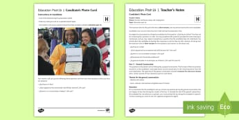 Education Post 16 1 Higher Tier Photo Card Activity Spanish - Spanish, Speaking, Practice, photo, card, activity, oral, foundation, tier, education, post, 16, col