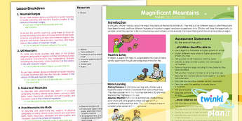 PlanIt - Geography Year 5 - Magnificent Mountains Planning Overview