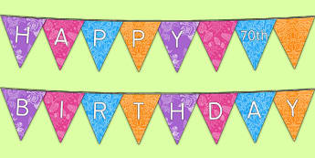 Happy 70th Birthday Bunting - 70th birthday party, 70th birthday, birthday party, bunting