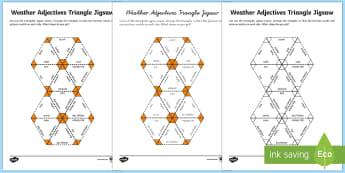 Weather Adjectives Jigsaw Activity German - Weather, adjectives, Wetter, comparative adjectives, seasons, German, MFL