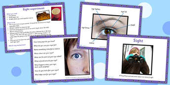 KS1 Science Senses Sight PowerPoint - ourselves, body parts