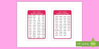Statutory Spellings Years 3 and 4 IKEA Tolsby Frame - spag, word list, words, ks2, spelling list, display, tables, children