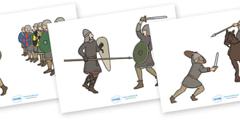 Anglo Saxons Stick Puppets - Anglo Saxon, Saxons, Anglo-saxon, history, Northumbria, Kent, story, story book, story sequencing, story resources, stick puppet, bronze helmet, East Anglia, Bayeux Tapestry, St. Bede, Offa's Duke, jewellery, Wessex, Sutt