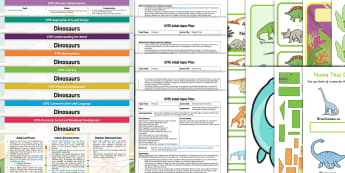EYFS Dinosaurs Bumper Planning Pack - Dinosaurs, early years, planning, plans, continuous provision, enhancements, adult led