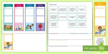 Year 4 Australian Curriculum Science Goals Bookmarks - Science assessment, targets, Australian science, WALT, goal setting,Australia