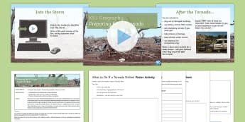 Preparing for a Tornado Lesson Pack - Natural Hazards, tornado, primary, secondary, impacts, prepare, disaster, Moore, Oklahoma, Tornado A