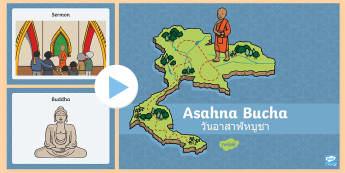 Asahna Buchas Photo PowerPoint - photo, asahna buchas, thai, thailand, buddhism  - thai, thailand, buddhism, holiday, buddhist