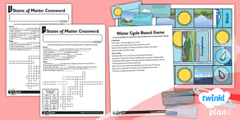 Science: States of Matter Year 4 Unit Home Learning Tasks