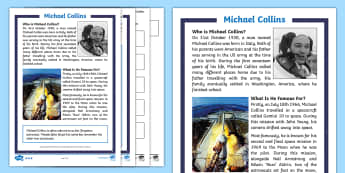 KS1 Michael Collins Differentiated Comprehension Go Respond Activity Sheets - KS1 Comprehensions,KS1 Comprehensions, KS1, Key Stage One, Year 1, Year 2, Year One, Year Two, Engli
