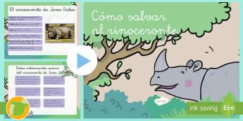 Presentación Escritura argumentativa El rinoceronte Rafa - rinoceronte, Rafa, especial, único, leopardo, pitón, amistad, amigos, consuelo, selva, animales, c