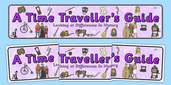A Time Traveller's Guide Display Banner - header, banner, display