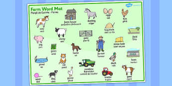 On the Farm Word Mat Romanian Translation - romanian, word, mat