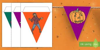 Halloween Bunting - decoration, classroom, organisation, halloween, day, death