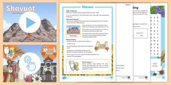 KS2 Shavuot Resource Pack - Shavuot UK REQUESTS (30.5.17), sahvout, jew, jews, judaism, moses, rules, fasting, mount sinai