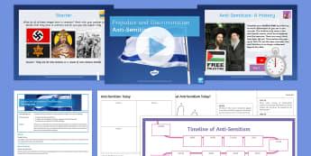 Prejudice and Discrimination: Anti-Semitism Lesson Pack - Judaism, Jewish, Racism, KS4, anti-semitism