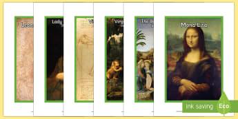 Leonardo da Vinci Display Photos English/Romanian - Leonardo da Vinci, history, images, art, science, renaissance, artist, Italy, significant individual