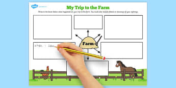 My Trip to the Farm Worksheet - farm, worksheet, trip, sheet