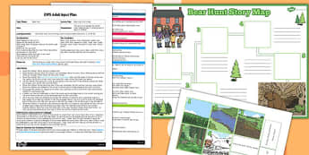 Story Map Activity to Support Teaching on Bear Hunt EYFS Adult Input Plan and Resource Pack