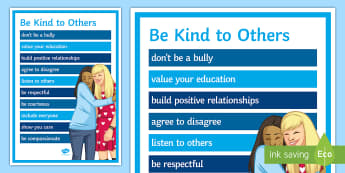 Be Kind to Others A2 Display Poster - Kindness, kind, behaviour, social skills, Classroom Management