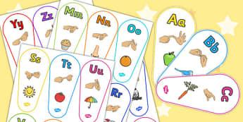 Sign Language Alphabet Fan - alphabet, fan, sign language