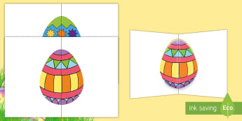 Pop-Up Easter Cards - easter, easter pop-up, easter cards, easter holidays, easter resources, easter cards, end of term, e