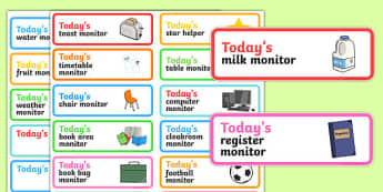 Classroom Monitor Stickers - classroom monitor, stickers, class, monitor, job, responsibility