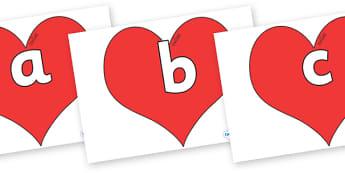 Phoneme Set on Hearts (Plain) - Phoneme set, phonemes, phoneme, Letters and Sounds, DfES, display, Phase 1, Phase 2, Phase 3, Phase 5, Foundation, Literacy