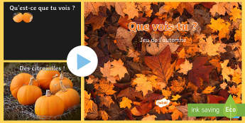 PowerPoint : Que vois-tu en automne ? - Français, saison, vocabulaire, cycle 1, cycle 2,