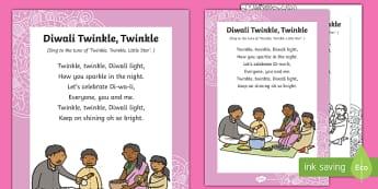 Diwali Twinkle Twinkle Song