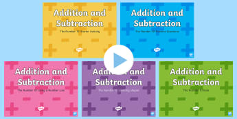 Addition and Subtraction Facts to 10 PowerPoint - add, subtract