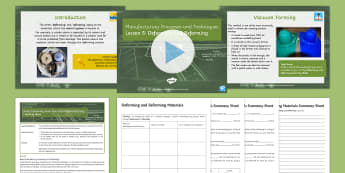 Manufacturing Processes - Joining and Forming Materials: Design Engineering (Electronics) L5: Deforming and Reforming Lesson Pack - design engineering, electronics, systems & control, process, components, making, D&T, KS4