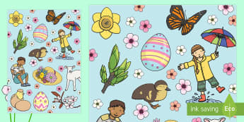 Spring Themed A4 Sheets - spring, display, spring display, display paper, spring images, wrapping paper, images, pictures, spring themed, a4 sheets