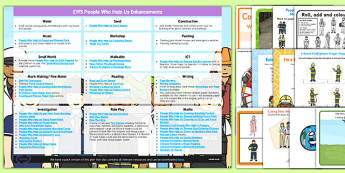 EYFS People Who Help Us Enhancement Ideas and Resources Pack - Early Years, continuous provision, early years planning, adult led, police, fire, ambulance, emergency services, 999, community, everyday life