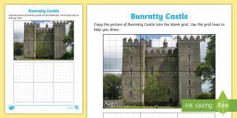 Bunratty Castle Art Activity Sheet - ROI - The World Around UsWAU, worksheet, Irish