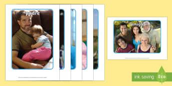 La mia Famiglia Foto Illustrative - la, mia, famiglia, foto, illustrazioni, vocaboli, famigliare, italiano, italian