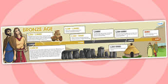 Bronze Age Timeline - bronze age, timeline, visual aid, history