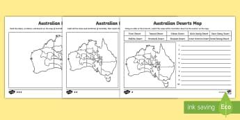 Australian Deserts Map-Australia - australia, maps, map, navigation, desert, deserts, keys, legend, lanforms, gibson, sandy, simpson, a