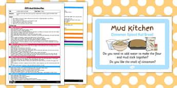 Cinnamon Spiced Mud Bread EYFS Mud Kitchen Plan - mud kitchen