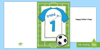 Festa del papà campo da calcio Biglietto d'Auguri - festa, del, papà, san, giuseppe, biglietto, auguri, bigliettino, calcio, calcistico, italiano, ital
