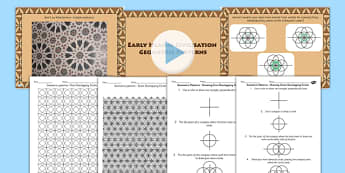 Early Islamic Civilisation Geometric Pattern Lesson Teaching Pack