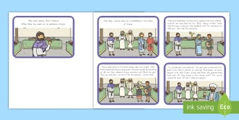 Jesus Turns Water into Wine (Wedding at Cana) Story Sequencing Cards  - Miracles of Jesus, Bible, Christian, New Testament, Water, Faith, Story, Sequencing