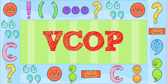 VCOP Display Borders - VCOP, Display, Borders, Grammar