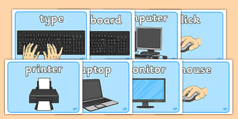 ICT Area Signs - ICT Area Signs, Area, Sign, signs, Label, ICT Area, ICT, information and communications technology, computer, laptop, monitor, keyboard, mouse, pointer, arrows, backspace, enter, control, Caps Lock