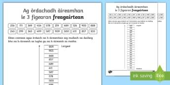 Cfe-A' Chiad Ire- Air Ais Dhan Sgoil- Ath-sgrùdadh 3 figearan - Cfe, A' Chiad Ire, Matamataigs, Àireamhan, 3 Figearan, ,Scottish