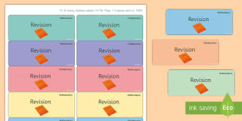Maths 'Revision' Stickers - Marking, Feedback, Stickers, Rewards, Learning, Attitude, Time-Saving, Positive, Praise, Exam Prepar