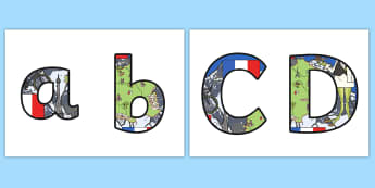 French Themed Display Lettering - French, Display, Lettering