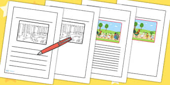 Chicken Licken Story Writing Frames - stories, story books, write