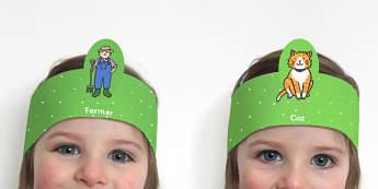 Farm Role Play Headbands - farm, roleplay, props, farm role play
