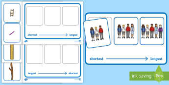 Workstation Pack: Length Ordering Activity Pack - TEACCH, workstation activity, length, maths, shortest, longest, p scales