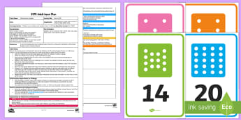 EYFS Race to 20! Adult Input Plan and Resource Pack - EYFS Number ELG, mathematics, early years, EYFS Planning, Adult led, teaching, teacher led, lesson p